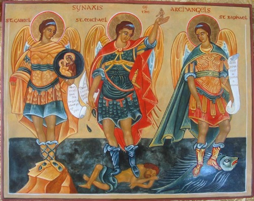 Archangels Michael, Gabriel, and Raphael